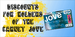 Discounts for holders of the Carnet Jove